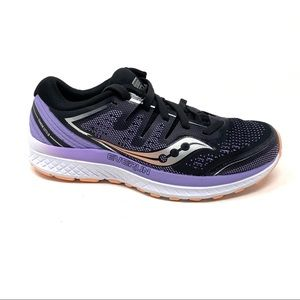 Saucony Guide ISO 2 black purple running shoes